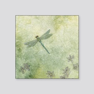 "StephanieAM Dragonfly Square Sticker 3"" x 3"""