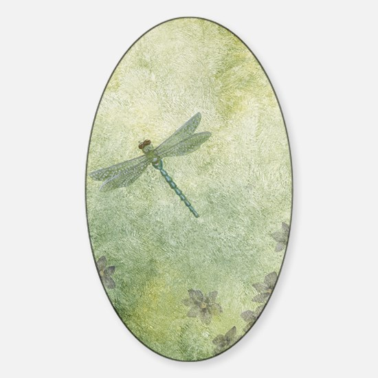 StephanieAM Dragonfly Sticker (Oval)
