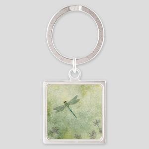 StephanieAM Dragonfly Square Keychain