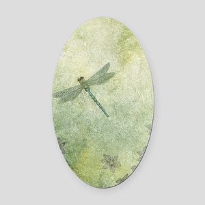 StephanieAM Dragonfly Oval Car Magnet