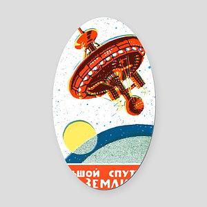 Soviet in Space scifi vintage prop Oval Car Magnet
