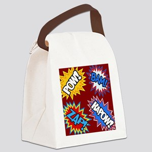 Hero Comic Pow Bam Zap Bursts Canvas Lunch Bag