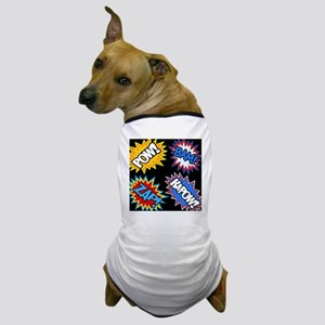 Hero Comic Pow Bam Zap Bursts Dog T-Shirt