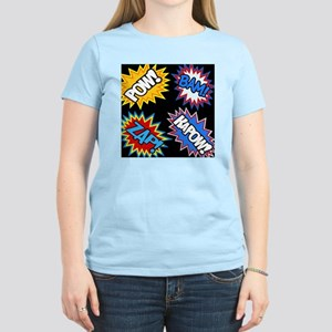 Hero Comic Pow Bam Zap Burst Women's Light T-Shirt