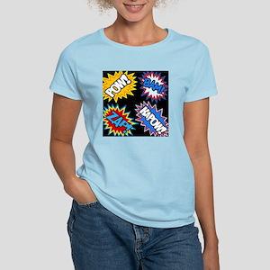 Hero Comic Pow Bam Zap Burst Women's Light T-Shirt