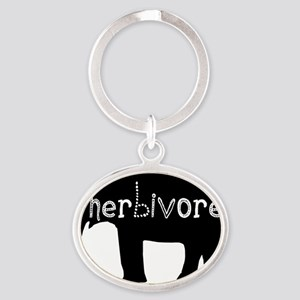 Elephant - Herbivore Oval Keychain