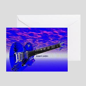 Big Blue Guitar Greeting Card
