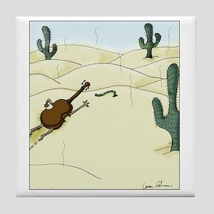 Dampit in the Desert Tile Coaster