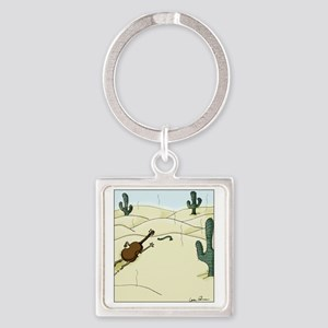Dampit in the Desert Square Keychain