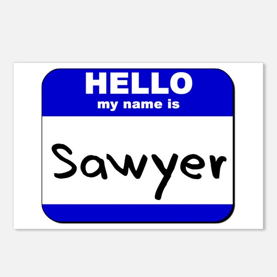 hello my name is sawyer  Postcards (Package of 8)