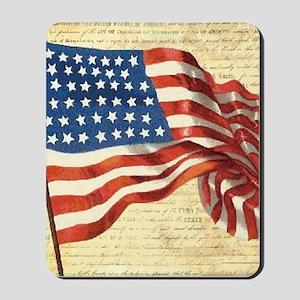 Vintage American Flag Patriotic Mousepad