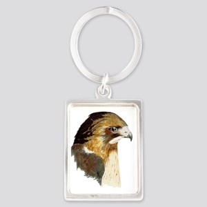 Red-tailed Hawk Portrait Keychain