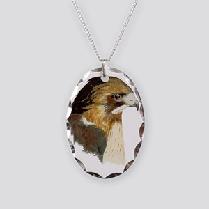 Red-tailed Hawk Necklace Oval Charm