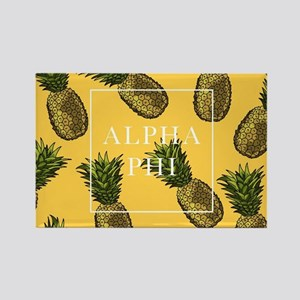 Alpha Phi Pineapples Rectangle Magnet