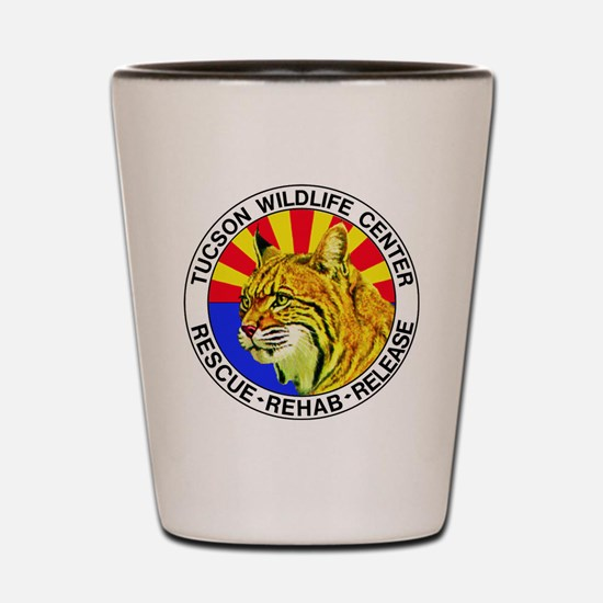 Tucson Wildlife Center New Logo Large Shot Glass