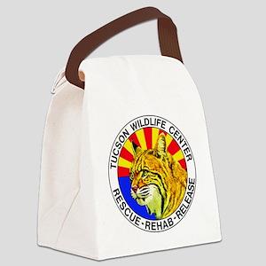 Tucson Wildlife Center New Logo L Canvas Lunch Bag