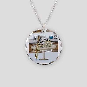 Rosin Bran Necklace Circle Charm