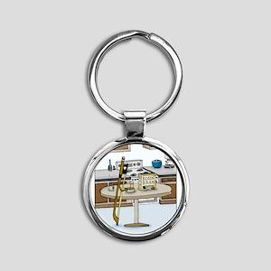 Rosin Bran Round Keychain