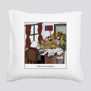 Grieg in Trouble Square Canvas Pillow