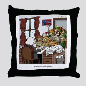Grieg in Trouble Throw Pillow