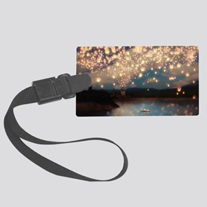 Wish Lanterns for Love Large Luggage Tag