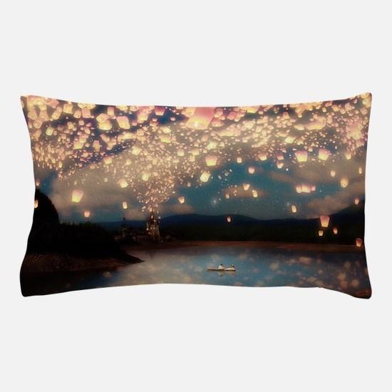 Wish Lanterns for Love Pillow Case