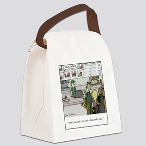 One Two Three Four Canvas Lunch Bag