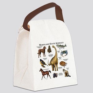 Maryland State Animals Canvas Lunch Bag