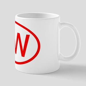 UW Oval (Red) Mug