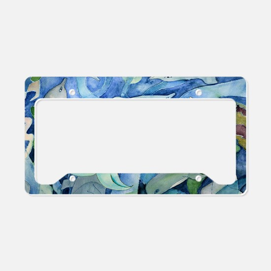 dolphins and mermaid party license plate holder - Mermaid License Plate Frame