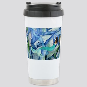 Dolphins and Mermaid pa Stainless Steel Travel Mug