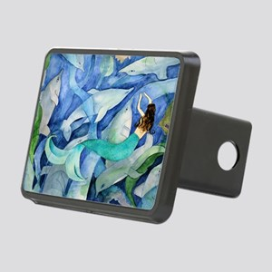 Dolphins and Mermaid party Rectangular Hitch Cover