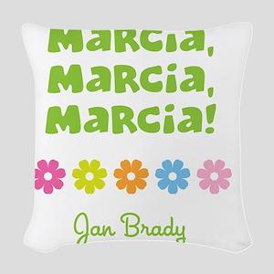 Marcia, Marcia, Marcia! Woven Throw Pillow