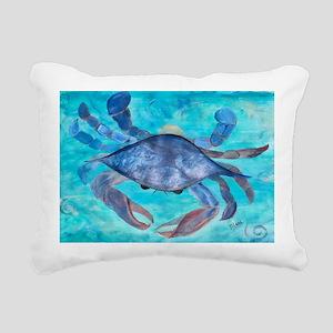 Blue Crab Rectangular Canvas Pillow