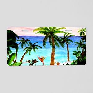 Aqua Beach Aluminum License Plate