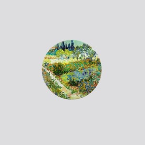 Van Gogh Arles Garden Flowers Mini Button