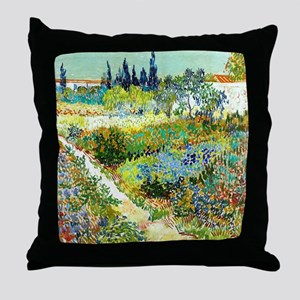 Van Gogh Arles Garden Flowers Throw Pillow
