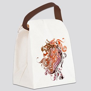 Tribal Lion Canvas Lunch Bag