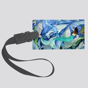 Dolphins and Mermaid party Large Luggage Tag