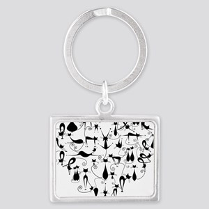 Cat Love Landscape Keychain