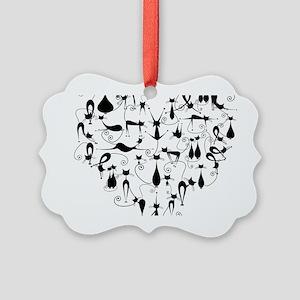 Cat Love Picture Ornament