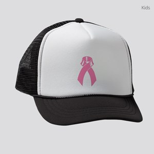 Breast cancer pink ribbon Kids Trucker hat
