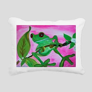 Sassy Frog Rectangular Canvas Pillow