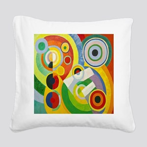 Robert Delaunay Rythme Cubist Square Canvas Pillow