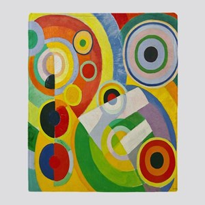 Robert Delaunay Rythme Cubist Throw Blanket