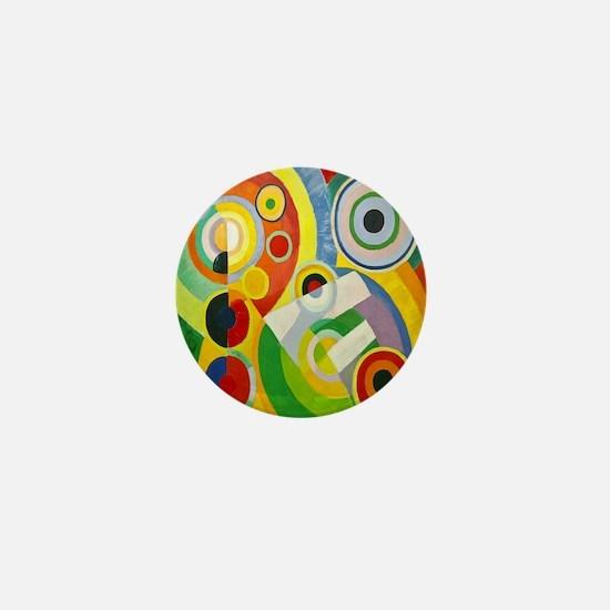 Robert Delaunay Rythme Cubist Mini Button