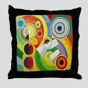 Robert Delaunay Rythme Cubist Throw Pillow
