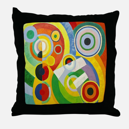 Robert Delaunay Rythme Cubist Throw Pillow