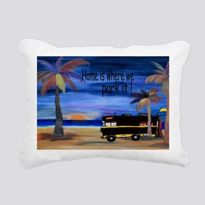 Home is where we park it Rectangular Canvas Pillow