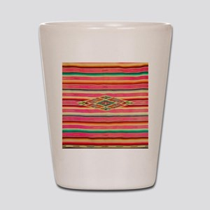 Vintage Pink Mexican Serape Shot Glass